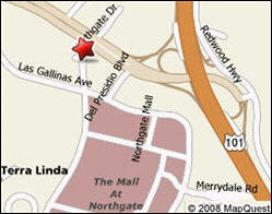 map showing Brewer Law Offices in Terra Linda